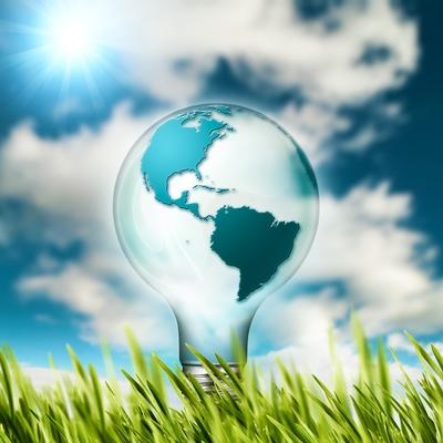 Globus in einer Glühbirne steht für nachhaltige Investments bei Mehrwertfinance.
